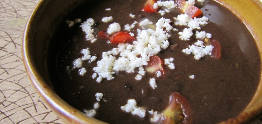 Black Bean Soup (with the Kitchen Sink)