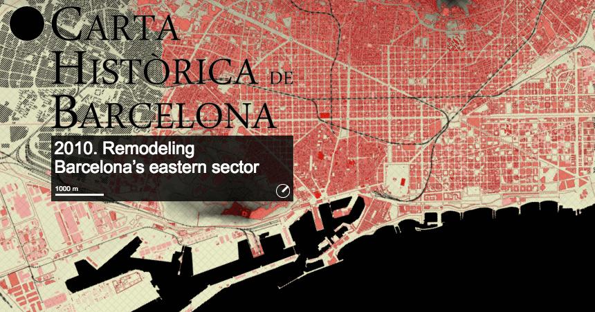 Interactive history of barcelona