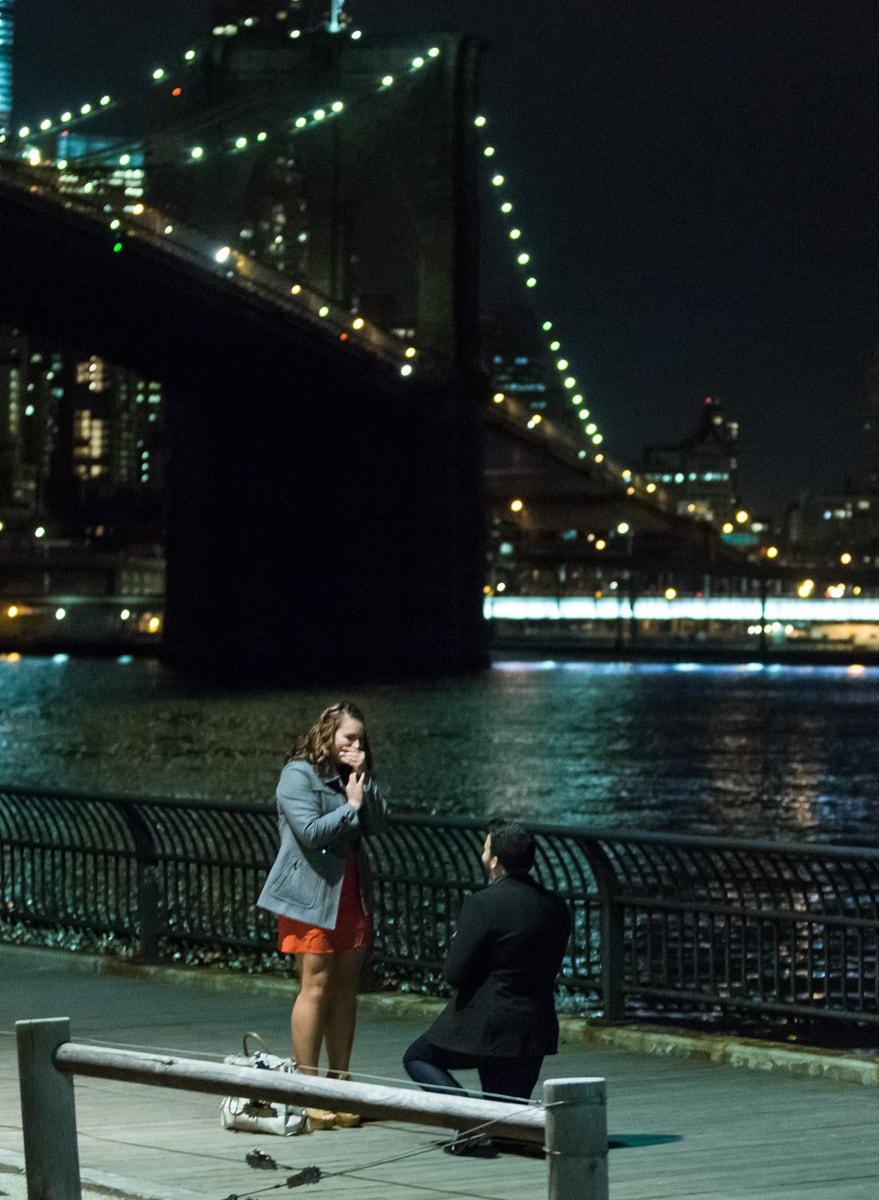 Photo 2 Surprise Proposal by Brooklyn Bridge. | VladLeto