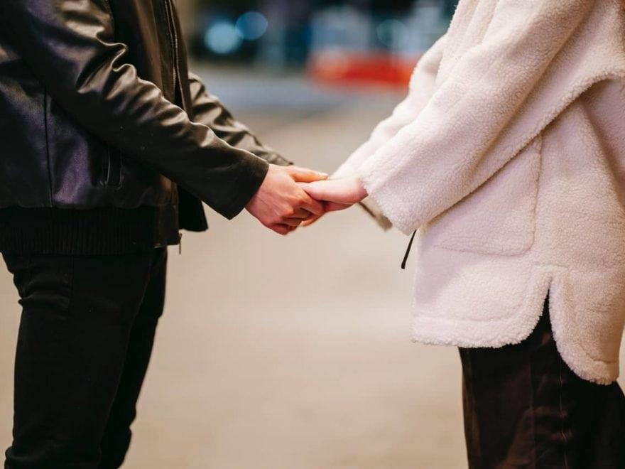 Verabschiedung nach dem ersten Date