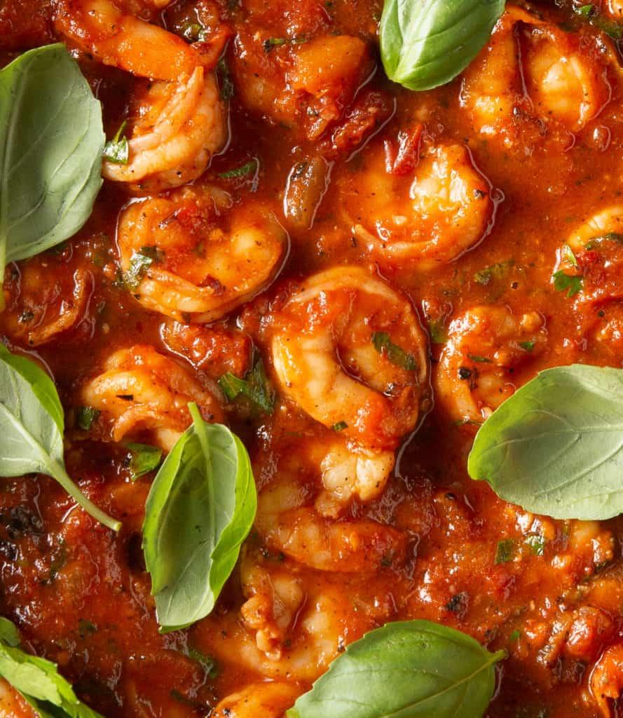 close up of shrimp