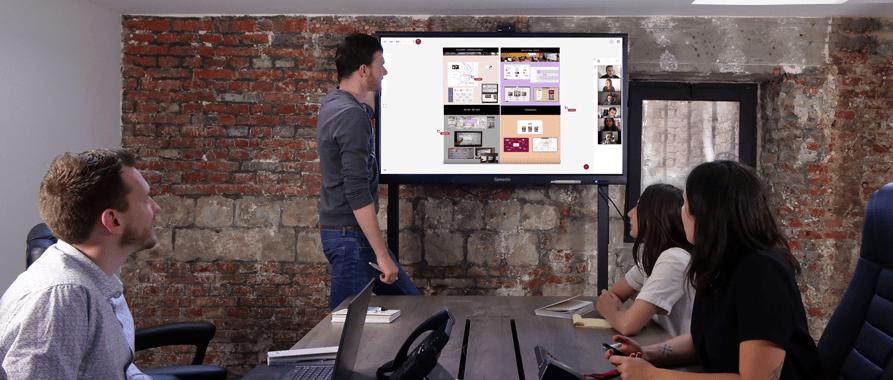 écran géant pour la réunion