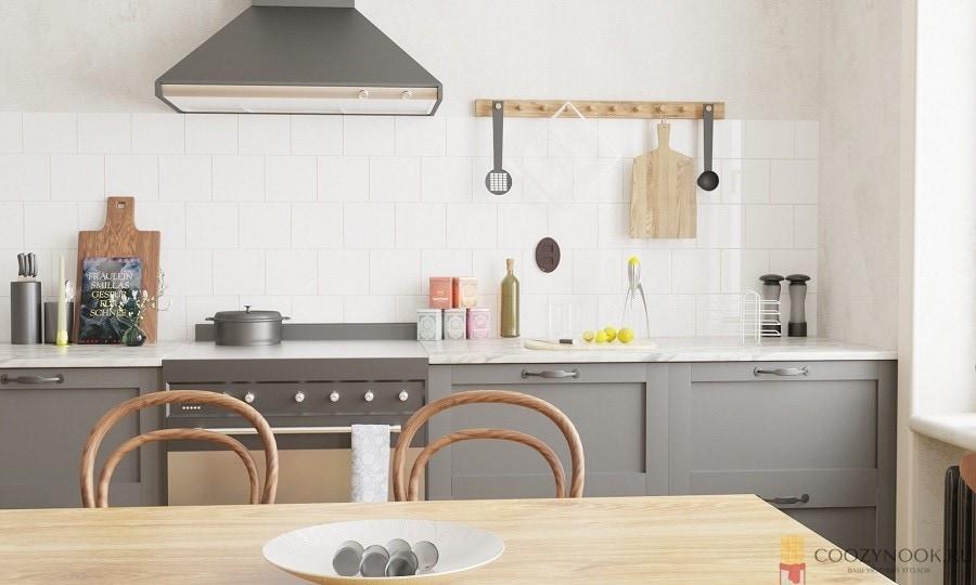 вытяжка, кухня, в скандинавском стиле, фото, пример