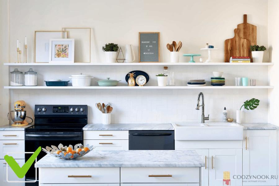 Светлая, аккуратная, чистая кухня