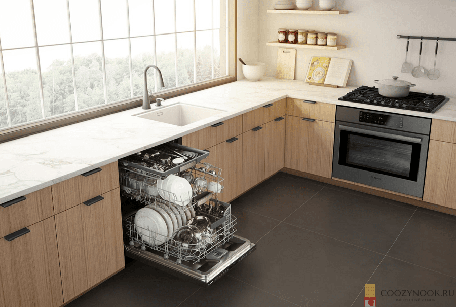 сушилка, без верхних шкафов, навесных, кухня, фото, пример