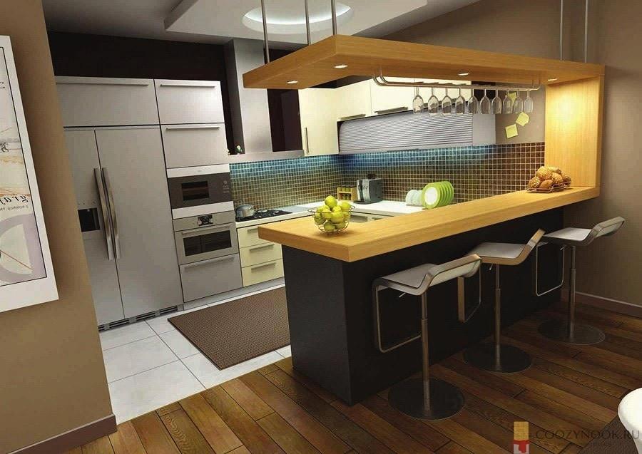 вешалка, барная стойка, фото, пример, кухня