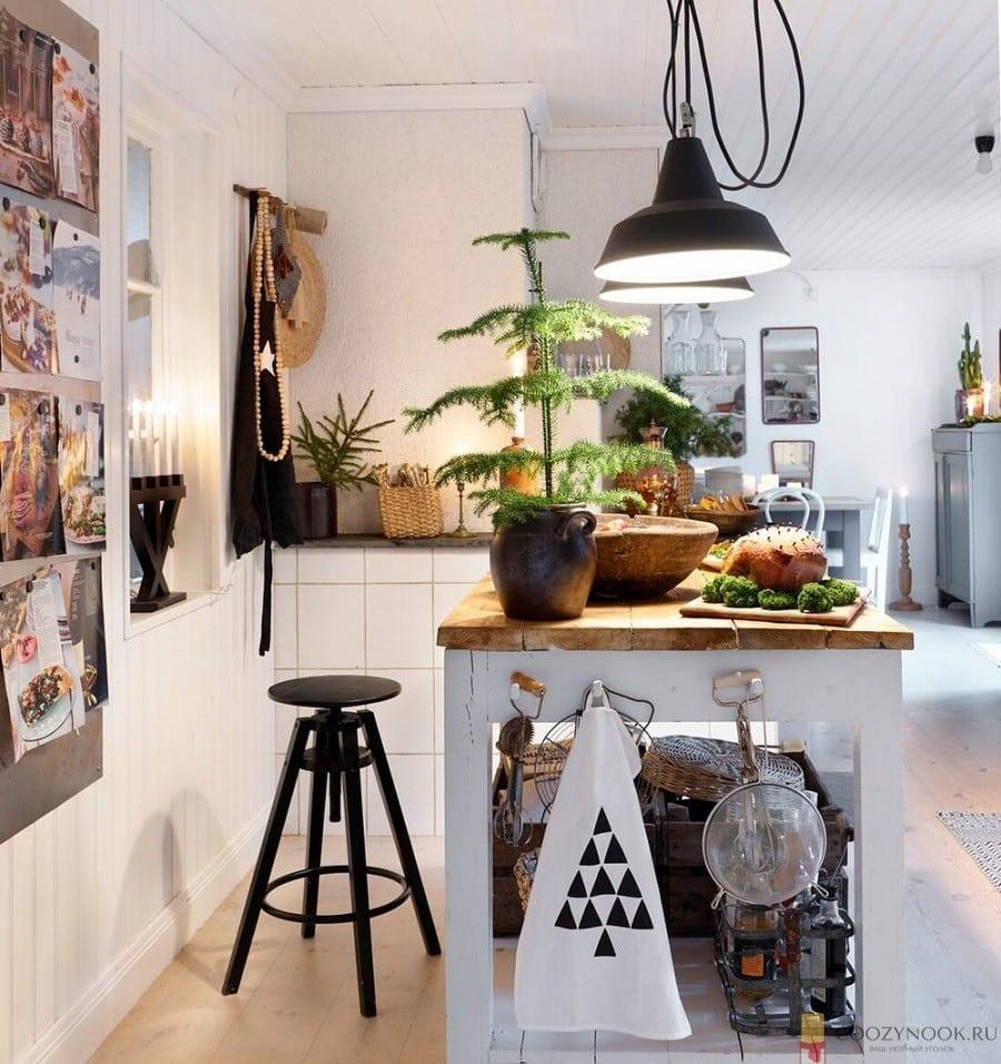 освещение, кухня, в скандинавском стиле, фото, пример