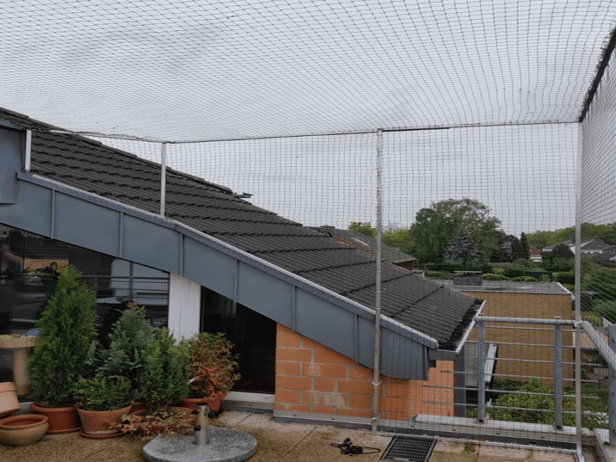 Dachloggia mit Kaatzenschutznetz absichern