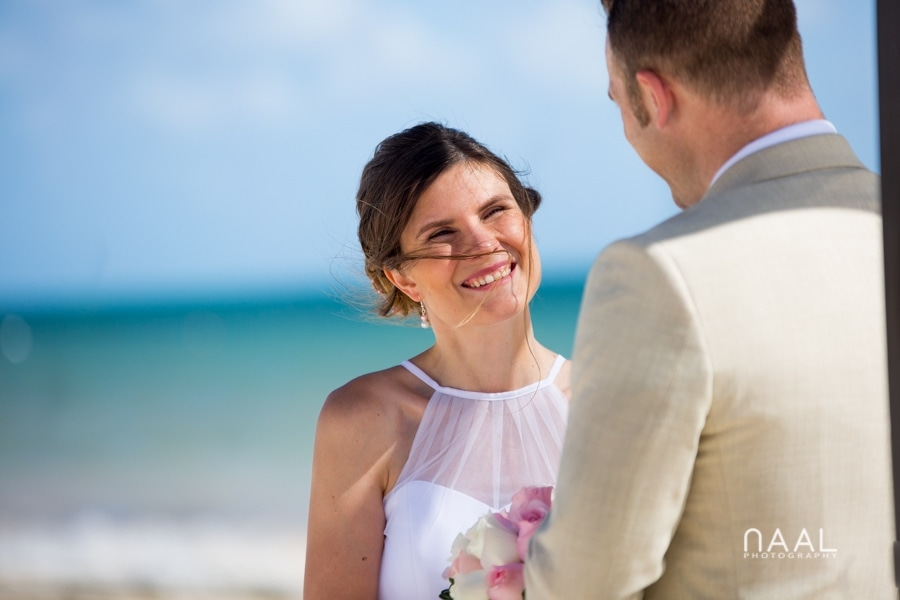 Bride and Groom at Moon Palace wedding but Naal Wedding Photography