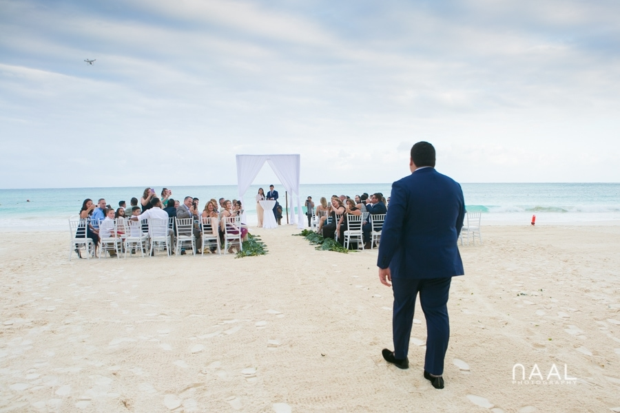 Groom getting to the aisle. Belmond Maroma by Naal Wedding Photography