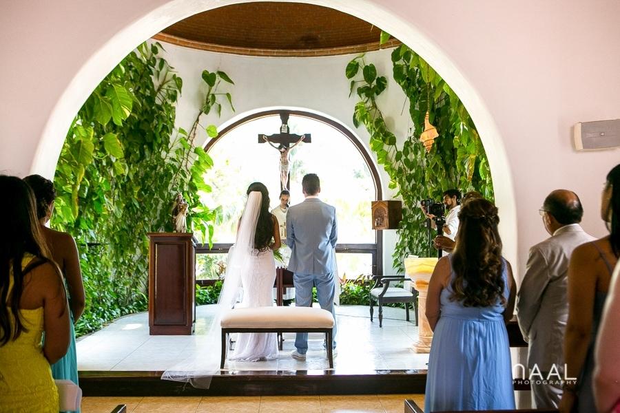 Nuestra señora church Playa del Carmen Naal Wedding Photography