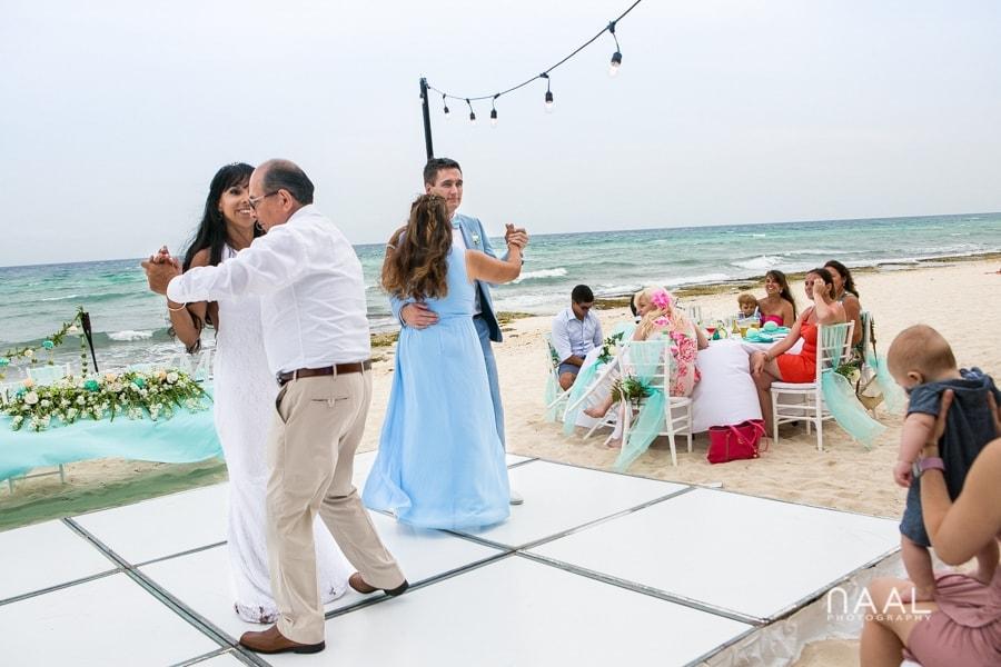Maribel & Steve -  - Expected beach destination wedding at Le Reve 56