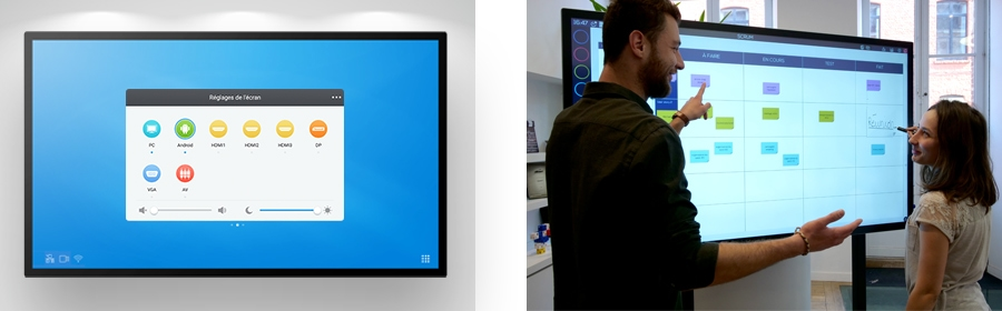 ops windows to insert into the interactive capacitive screen