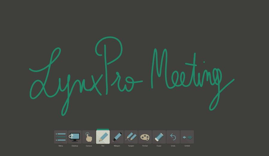 logiciel professionnel lynxpro meeting ecran interactif