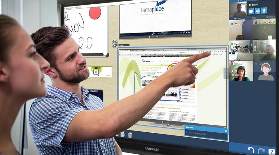 Le logiciel Tamashare sur écran interactif