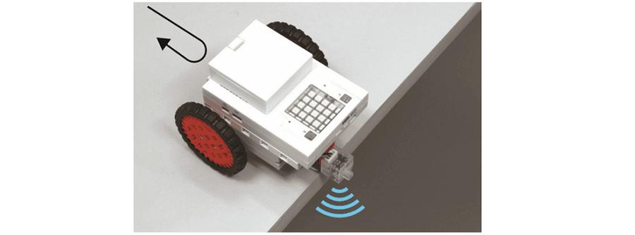 programme d'une voiture antichute en langage python