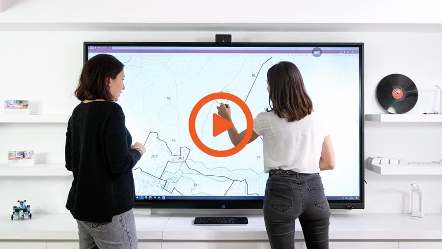 La vidéo de l'écran interactif tactile SuperGlass