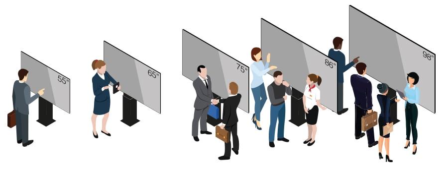écran interactif géant 98 pouces