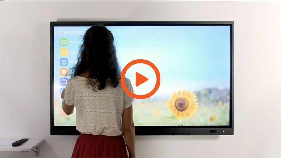 écran interactif clevertouch en vidéo