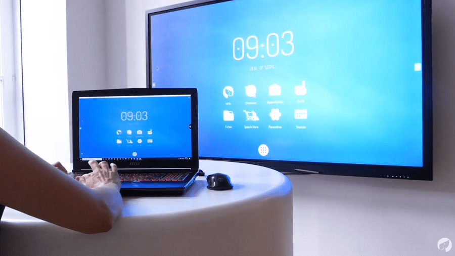 Commander un écran interactif depuis un PC avec EShare