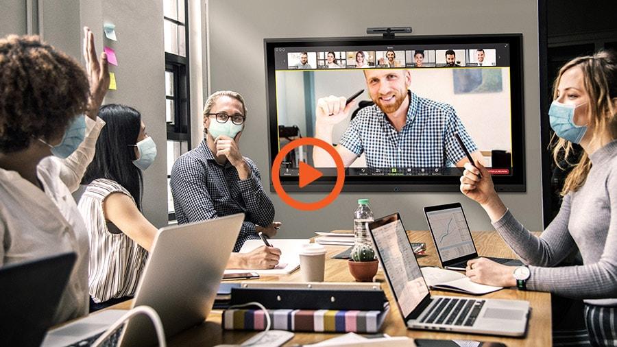 logiciels collaboratifs de visioconférence en mode travail hybride