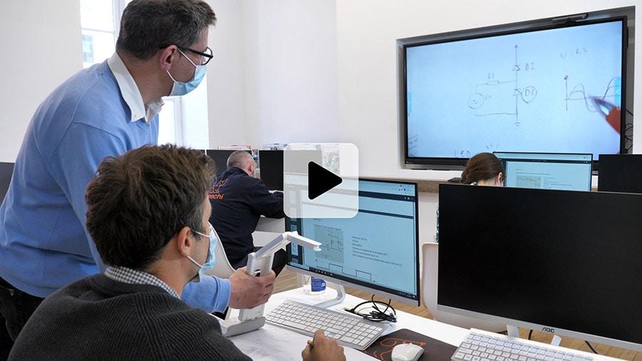 vidéo du visualiseur de documents Elmo-MA-1 avec projection sur écran tactile PC Windows 10