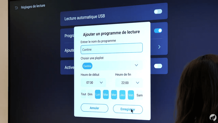 Créer un programme de lecture sur l'écran d'affichage SpeechiDisplay
