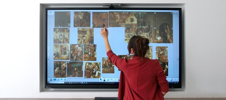 Transformer une peinture en puzzle sur un ENI pour histoire des arts