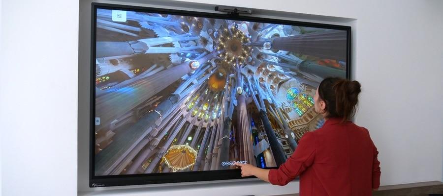 visite virtuelle d'un monument sur écran numérique interactif (ENI)