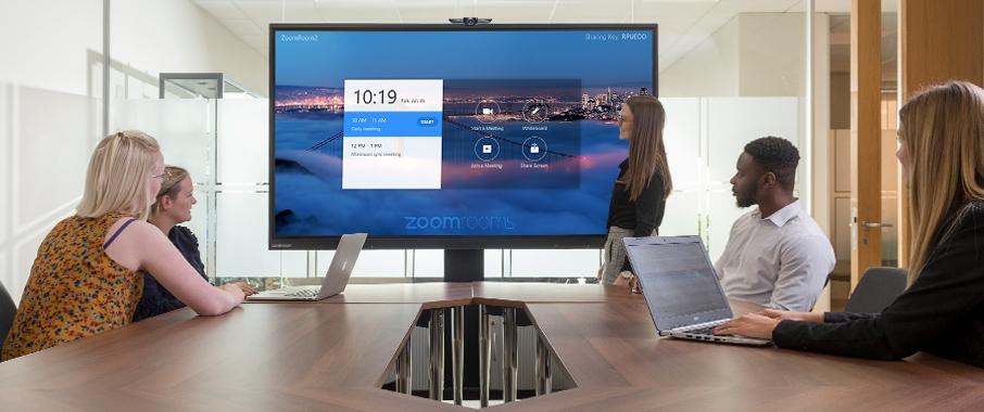 transformer sa salle de réunion en salle de visioconférence avec Zoom Rooms