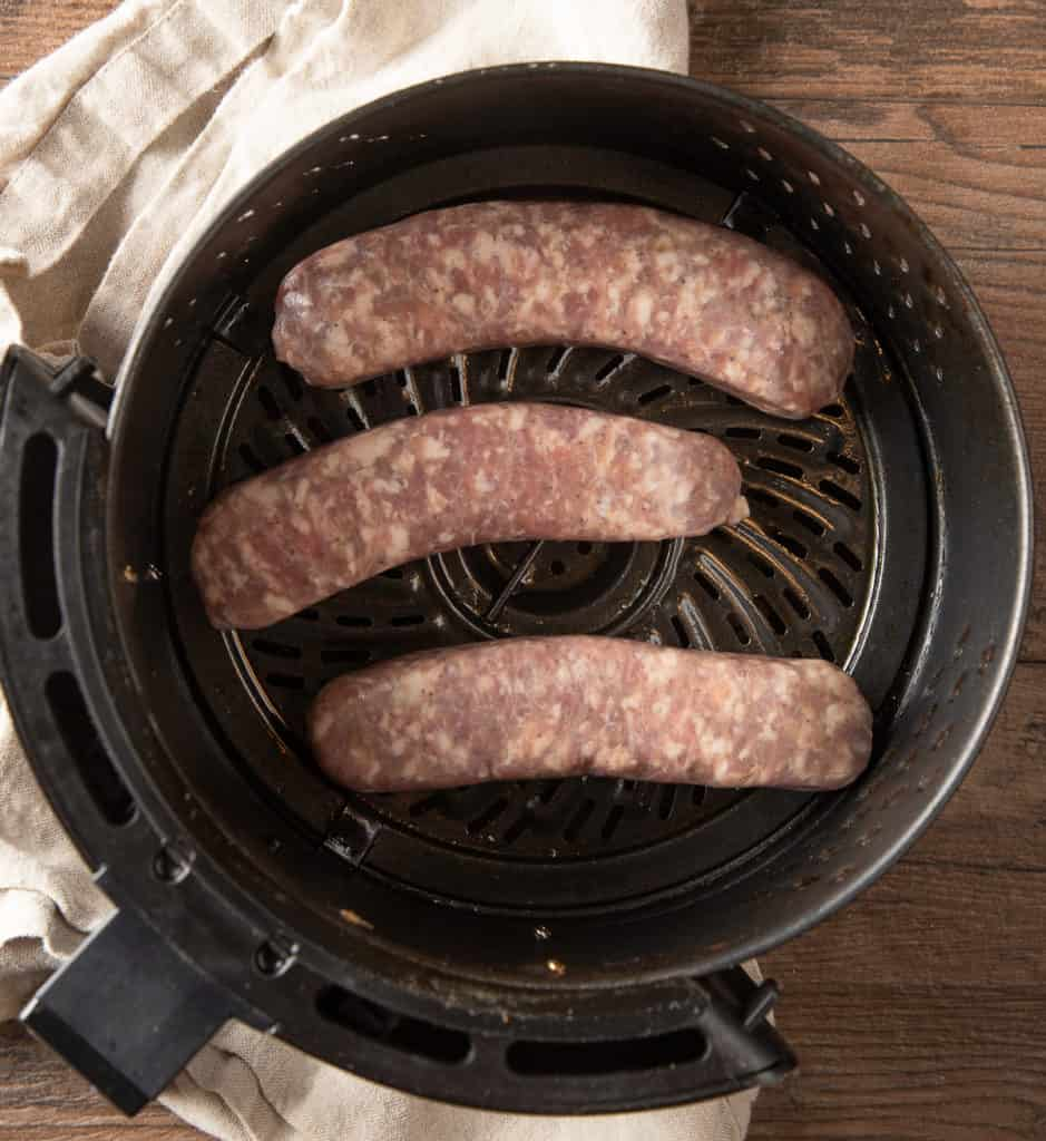 how to air fry brats