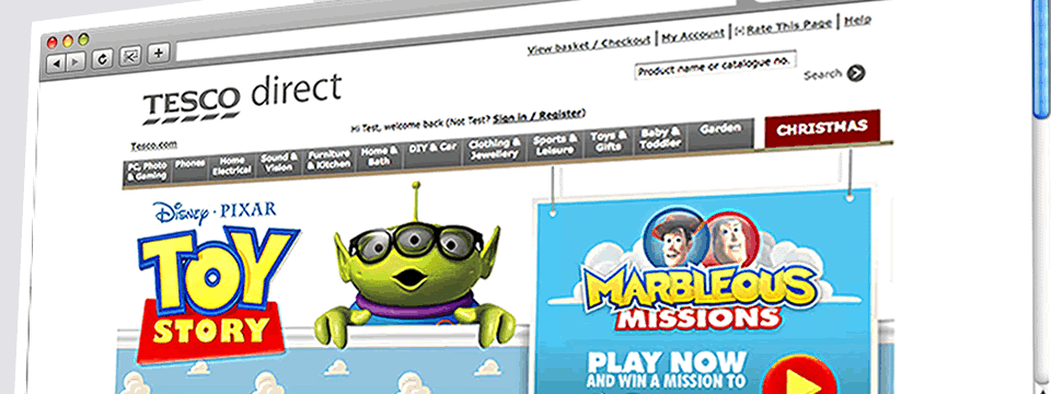 Tesco Direct Toy Story Campaign | Web Design Sheffield