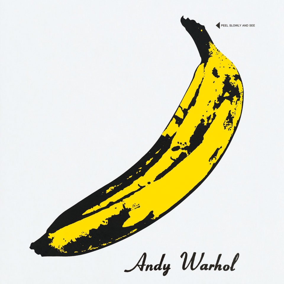 art: Andy Warhol / music: The Velvet Underground and Nico / record: The Velvet Underground and Nico / year: 1967 / label: Verve Records / format: Album 12˝ / artwork: Screen print / special: Vinyl released with three variations of front cover with banana sticker to peel off