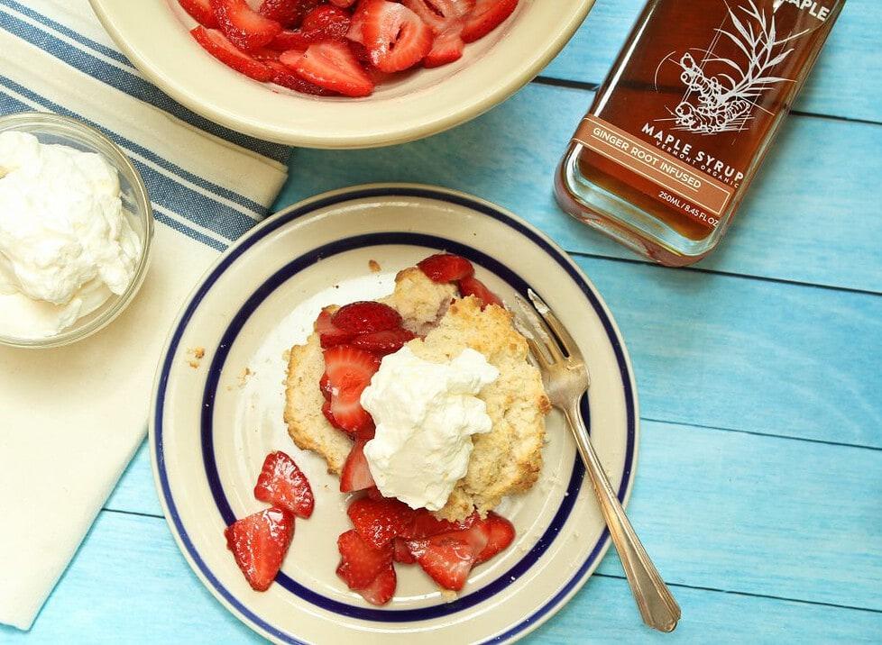 Ginger Maple Strawberry Shortcake