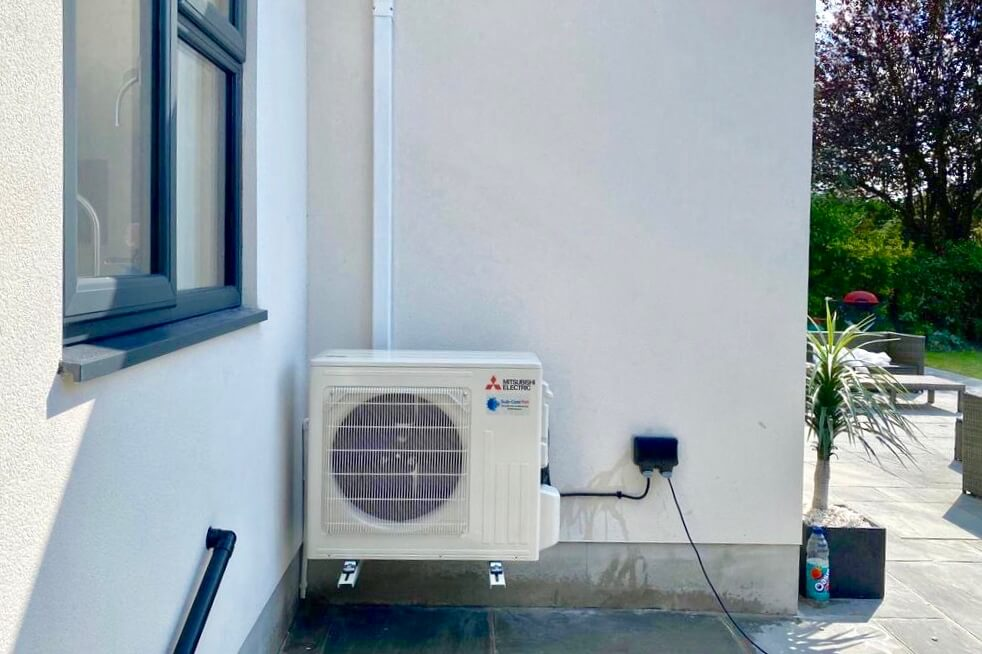 Mitsubishi Electric Zen air conditioning external unit from Sub-Cool Fm domestic installation in Staines, Surrey