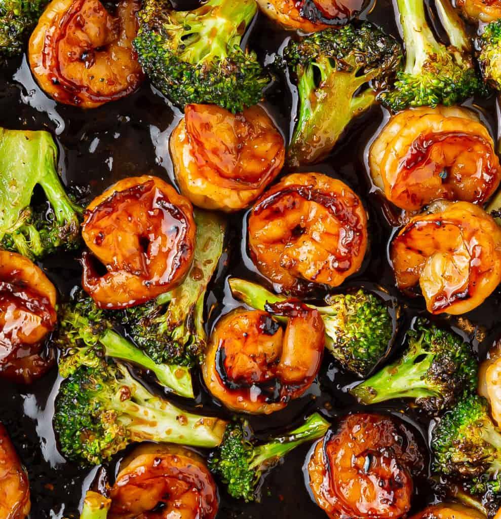 honey garlic shrimp broccoli