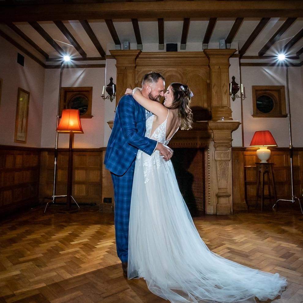 Wedding Bride and Groom First Dance Prested Hall