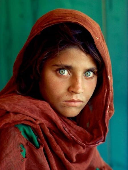 The portrait appeared on the cover of National Geographic in June 1985