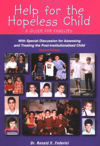 """cover for book by Dr. Federici """"Help for the Hopeless Child"""""""