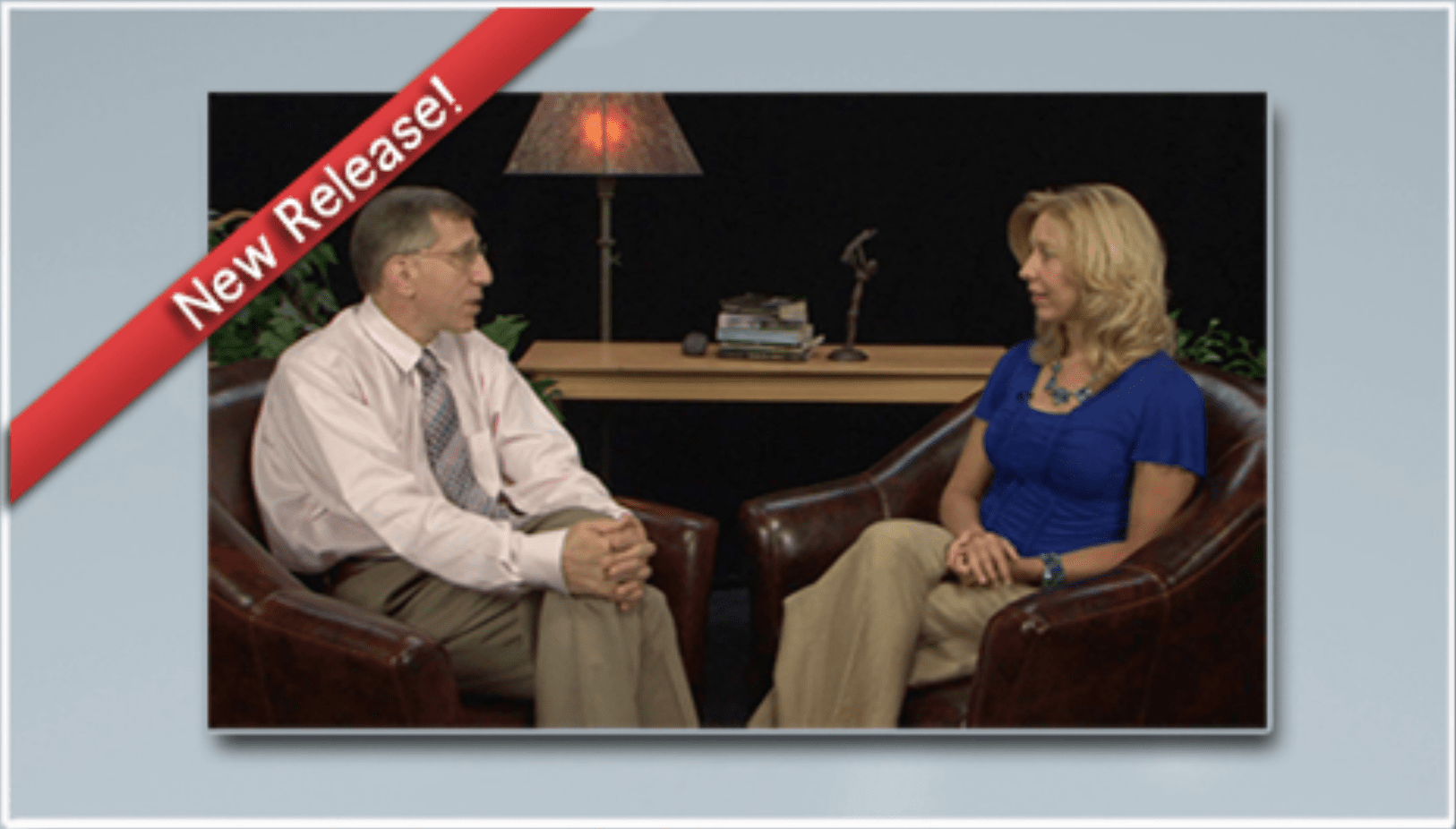 image showing Dr. Federici and Heather T. Forbes sitting and talking