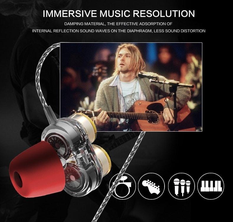 Casti QKZ KD7 in-ear Dual drive 2