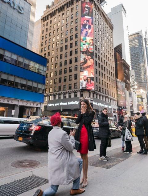 Photo 3 Times Square Billboard Proposa   Dare to Dream
