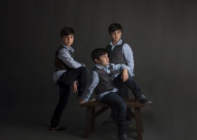 kids portrait in studio