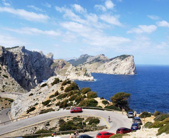 Route sur la côte de Majorque.
