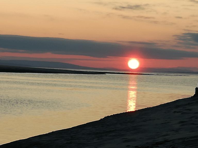 Findhorn river at sunset B