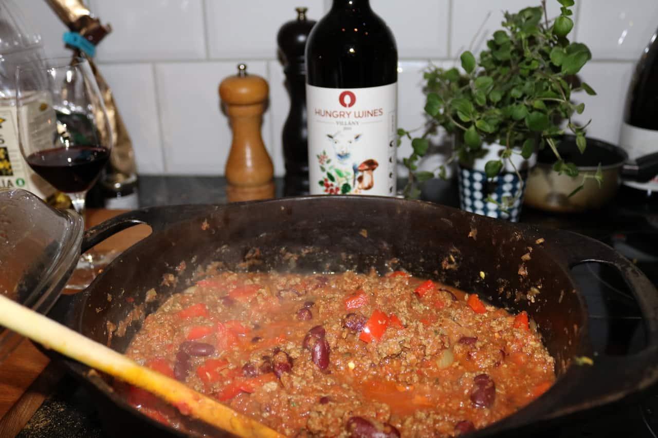 chili con carne med viltfärs