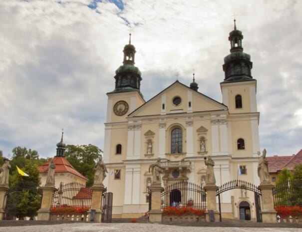 Front of Sanctuary in Kalwaria Zebrzydowska - Poland, Europe. UNESCO place