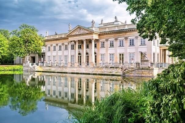 Lazienki royal palace in Warsaw, Poland