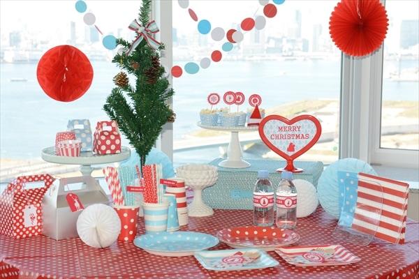 アクア クリスマスパーティー企画中 : Preparation for Christmas Party 2013 Blue x Red