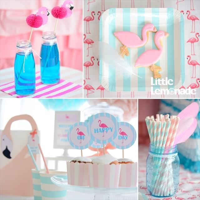 フラミンゴテーマのパーティー アイディア : Flamingo Themed Summer Party Ideas